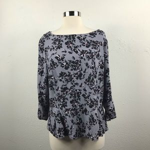 Floral Peplum Top by Banana Republic
